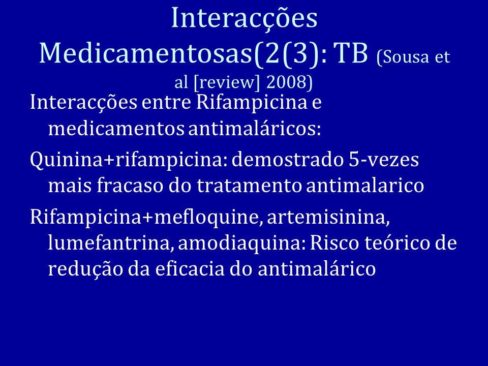 Interacções Medicamentosas(2(3): TB (Sousa et al [review] 2008)